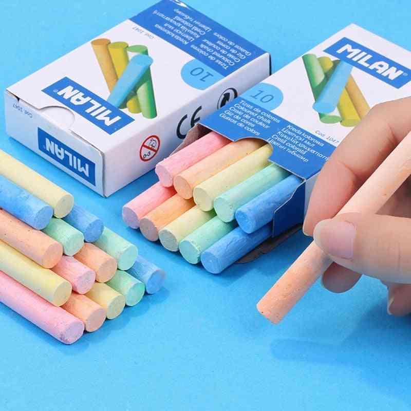 10pc Of Dustless Chalk For Blackboard- Office & School Stationary Supplies