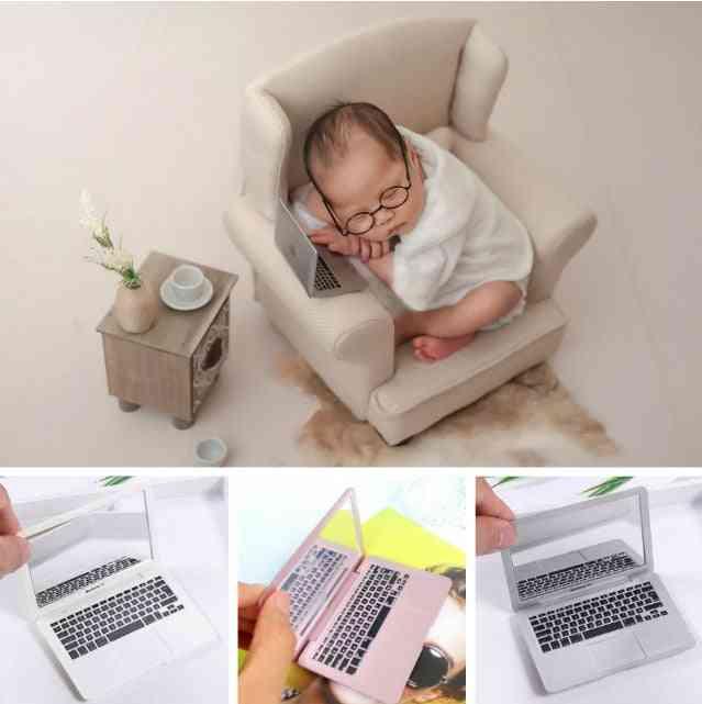 Photography Prop Mini Laptop, Newborn Baby Shoot Accessory