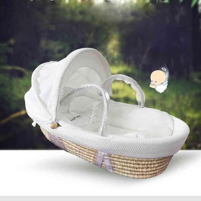 Newborn Portable Basket Crib -car Sleeping Baby Bed (0-16month)