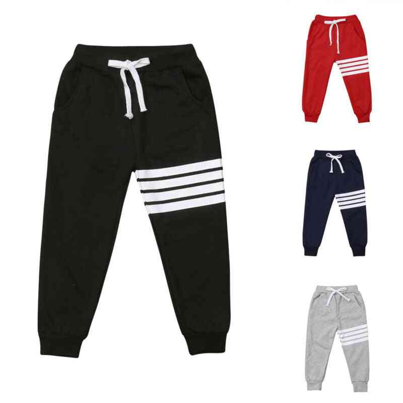 Striped Cotton, Joggers Casual, Track Pants Trousers