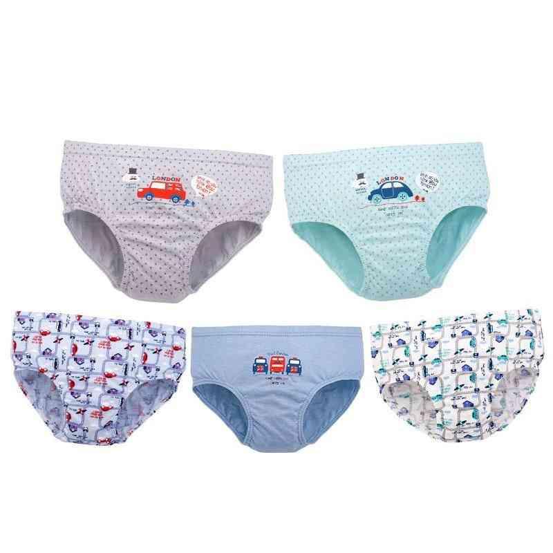 Kid Underwear Solid Cartoon Printed, Breathable Panties For