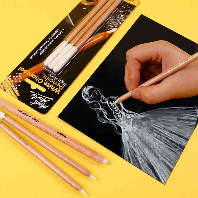 White Charcoal Pencil, Highlight Sketch Drawing Art Tools