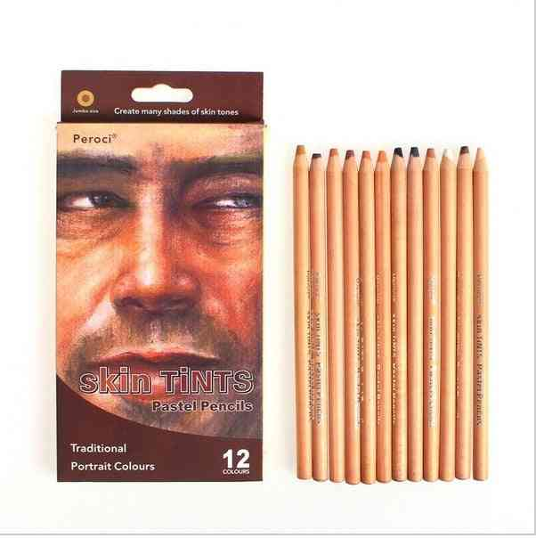 Skin Tints- Pastel Color Wood Pencil For Drawing
