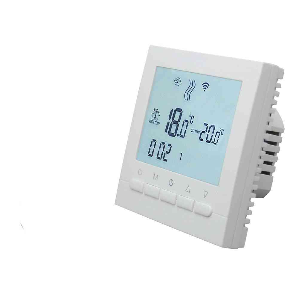 Gas Boiler Heating Thermostat-smart Wifi Temperature Regulator With Lcd Display