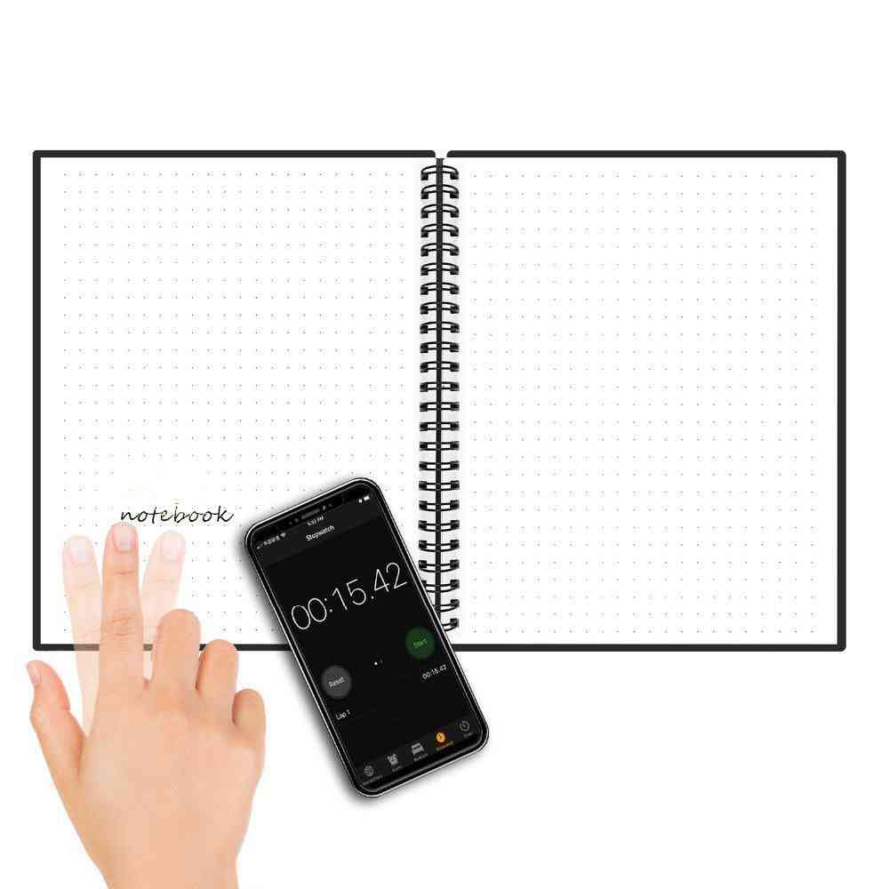 A6 Smart Reusable/erasable Notebook Lined With Pen