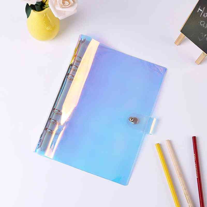 Pvc Notebook Cover With 6 Holes Binder