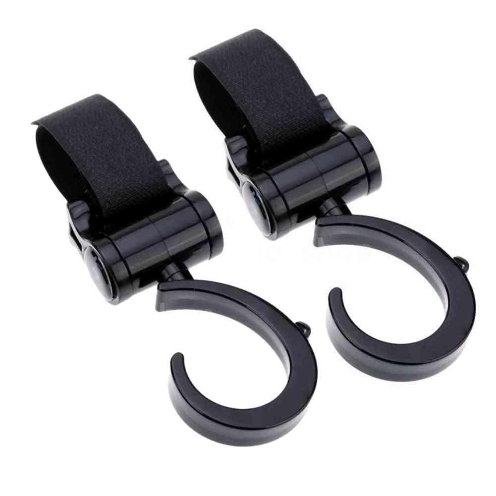 Baby Stroller Hooks, Pram Rotate 360 Diaper Bag Hanger
