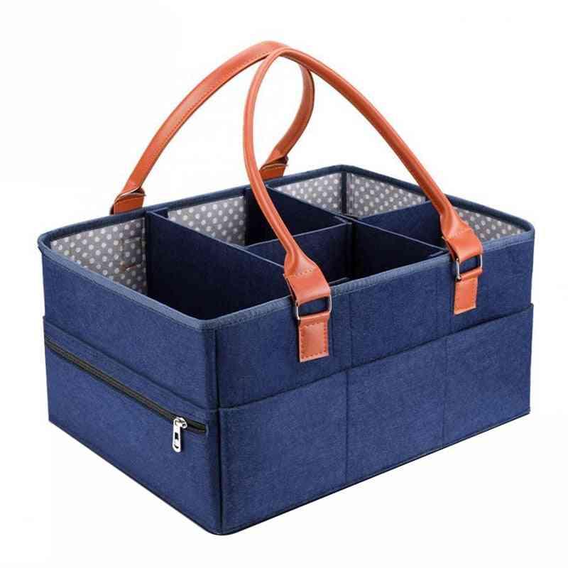 Portable And Fold Able Baby Diaper Caddy Organizer- Nursery Essentials Storage Bag