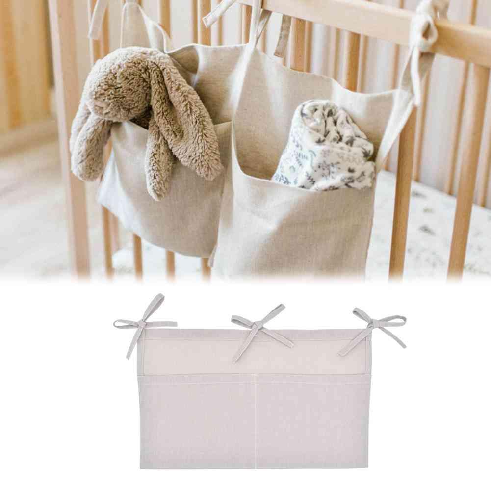 Baby Bed Hanging Storage Bag- Crib Organizer