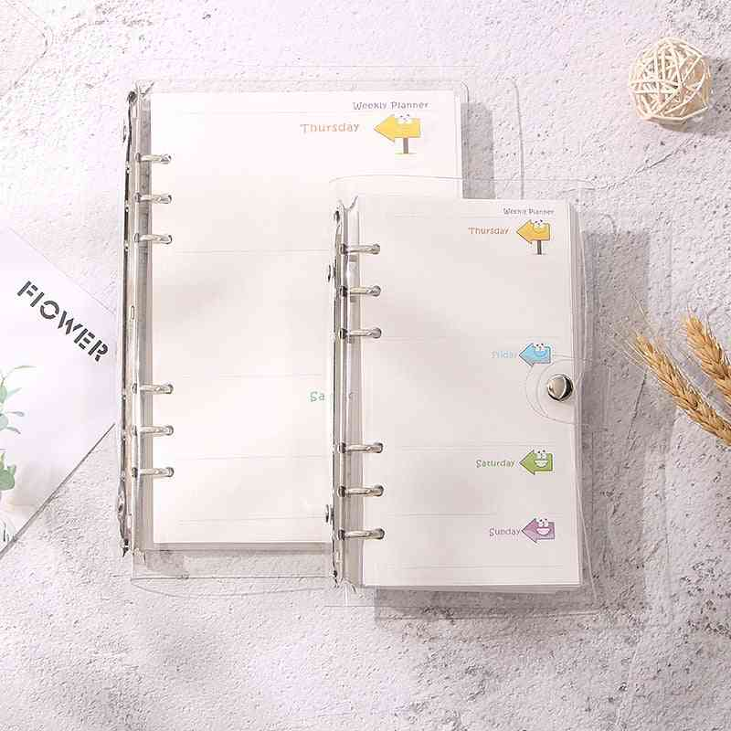 A5 A6 Transparent Notebook Binder