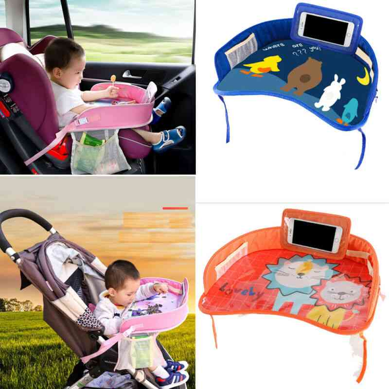 Multi Function Waterproof Car Safety Seat Plate, Eating Table Stroller