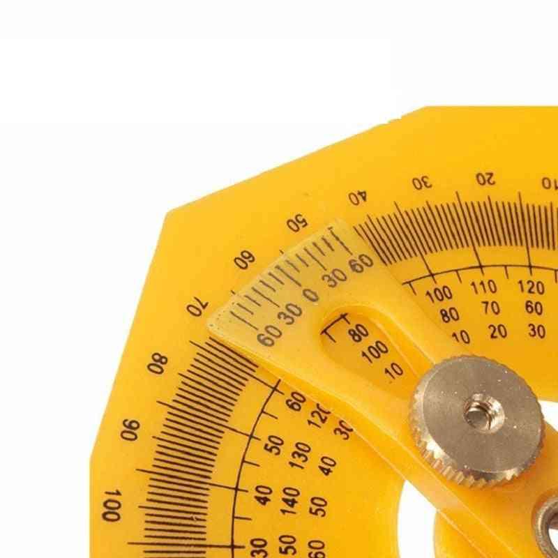 180 Degree Protractor-measure Arm Ruler Gauge Tool