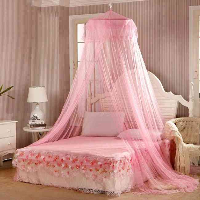 Elegant Lace Bed Canopy Mosquito Net- Hung Dome