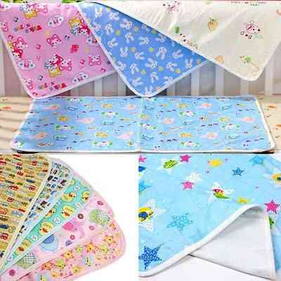 Waterproof Urine Mat, Cotton Soft Nappies Cover Pad Cloth For Baby Bedding Sheets