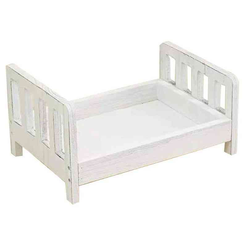 Newborn Photography Props Wood Bed