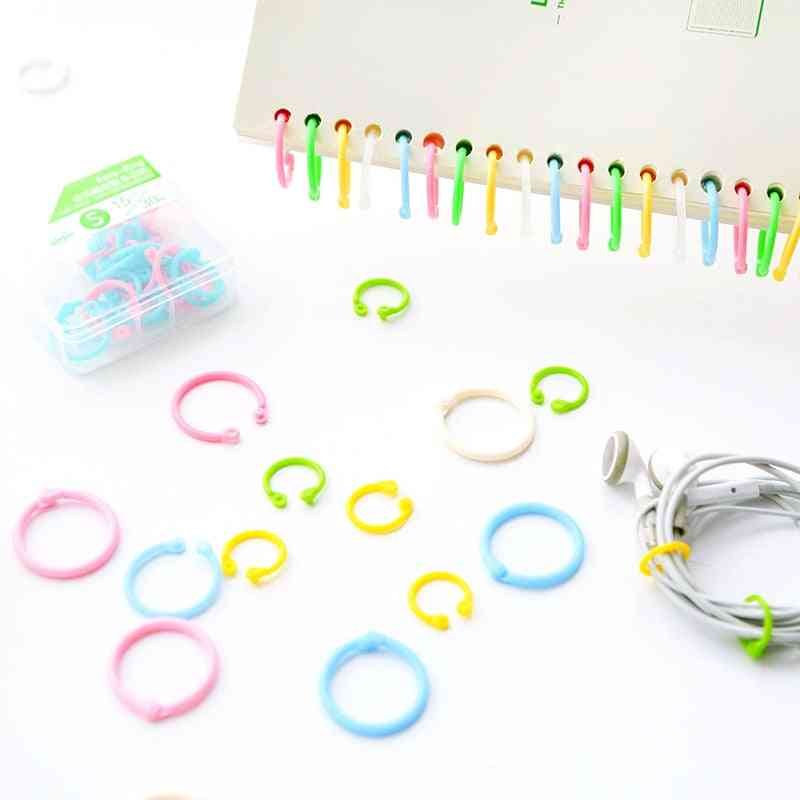 Creative Colorful Plastic Book Rings - Multi Function Loose Leaf Binder