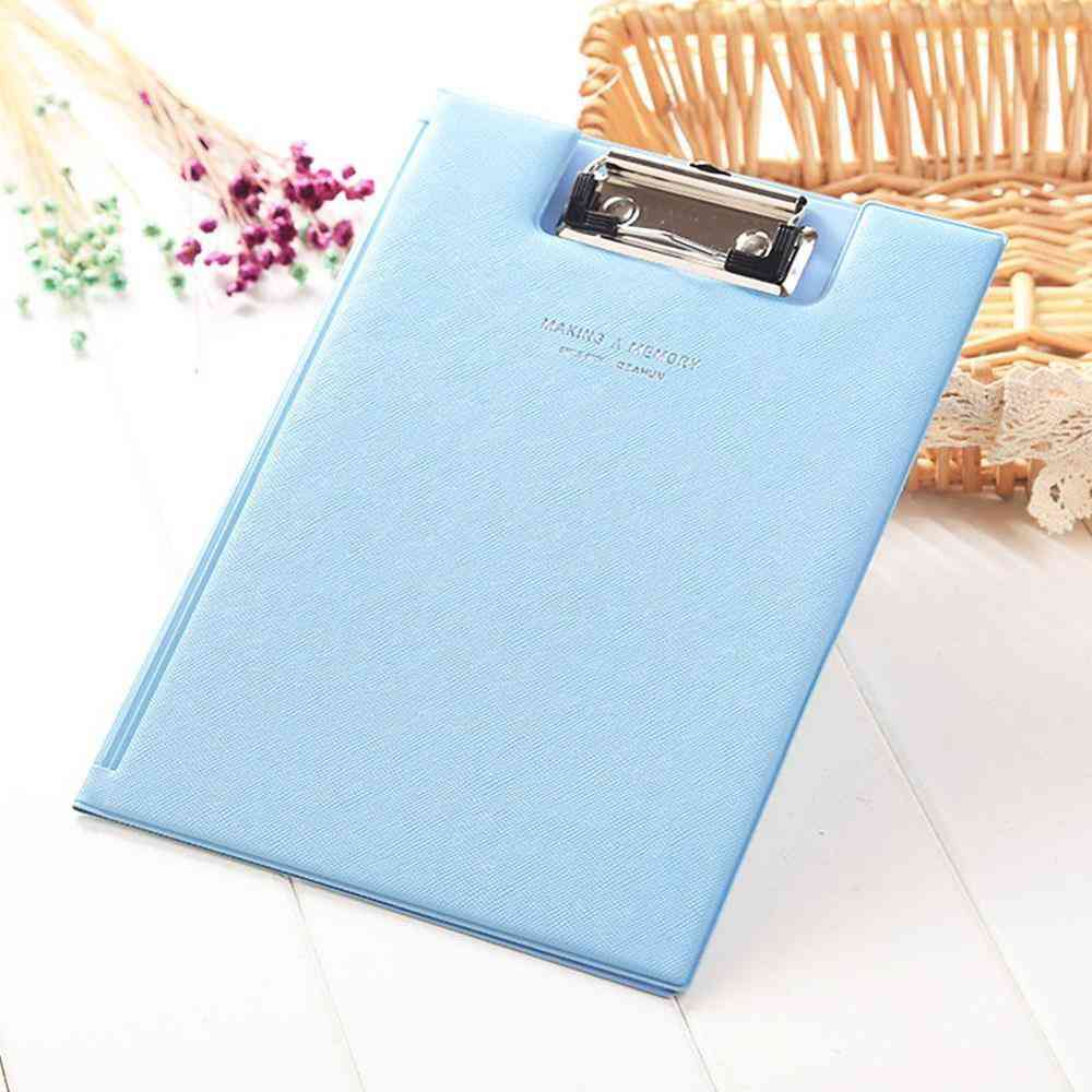 Waterproof, Pu Leather Writing Clipboard Suitable For A5 Size Paperwork