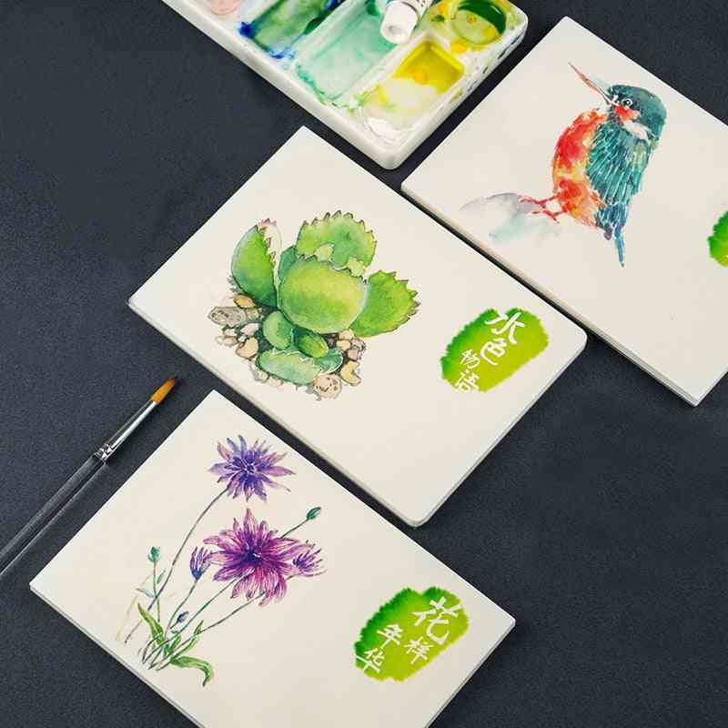 Professional Painting Tutorial, Watercolor Paper Painted Water-soluble Book