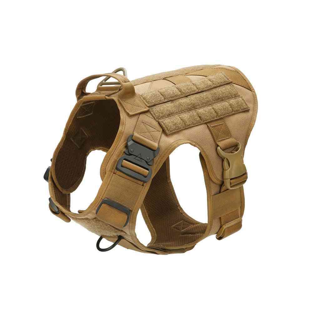 Tactical Water Resistant Dog Vest With Adjustable Leash-training Hunting Molle