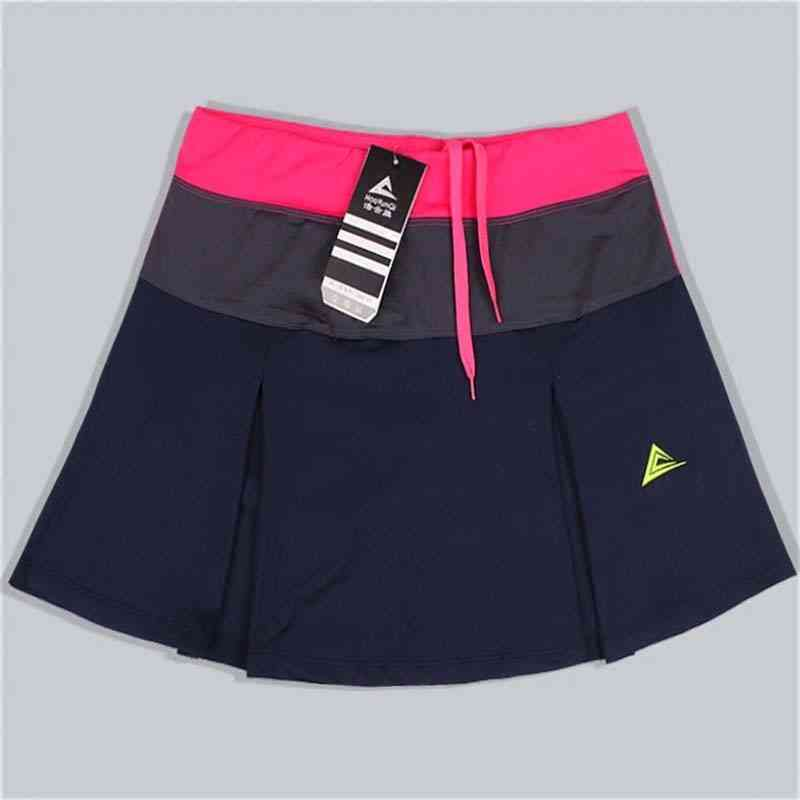 Spring & Summer Quick Drying Patchwork Female Training Skirts With Safety Shorts