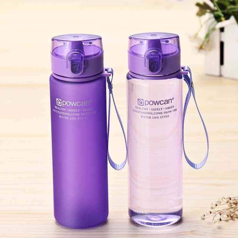 Portable Leak-proof Water Bottle, Outdoor Bicycle Sports Drinking Plastic Bottles
