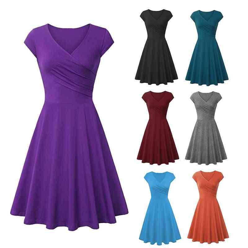 Beautiful Women Fashion Deep V Neck Tank Dress, Simple A Line Elegant Dresses