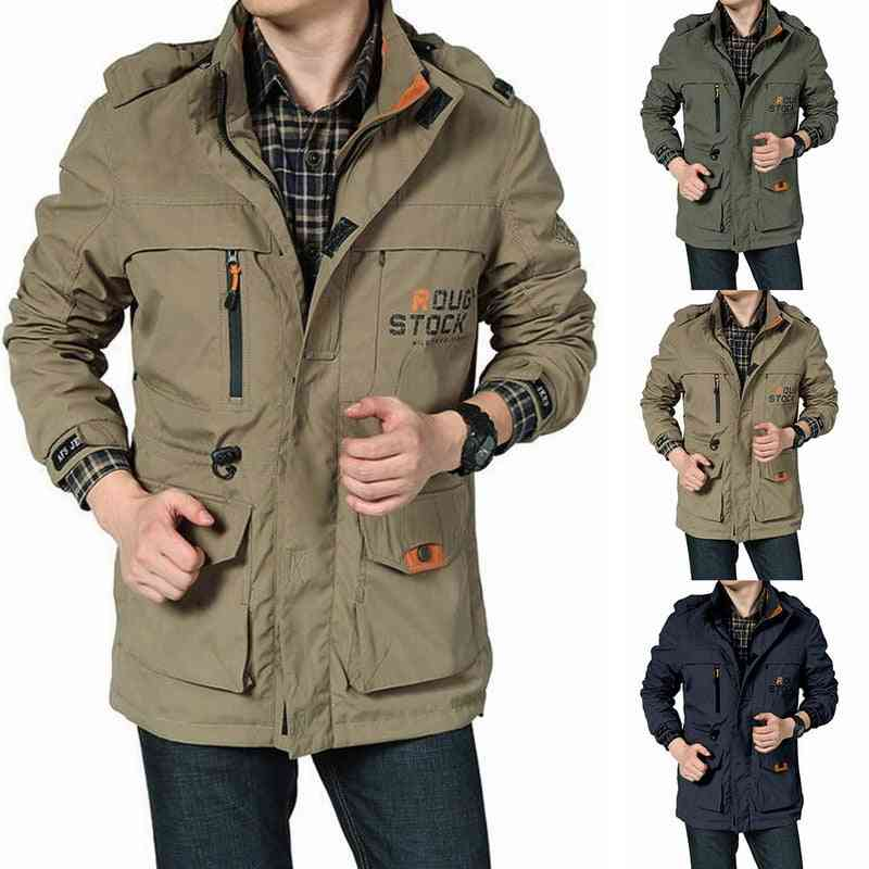 Autumn Hiking Jacket, Hunting Ghillie Suits, Military Soft Shell Men Army Male Windbreakers Camping Fishing