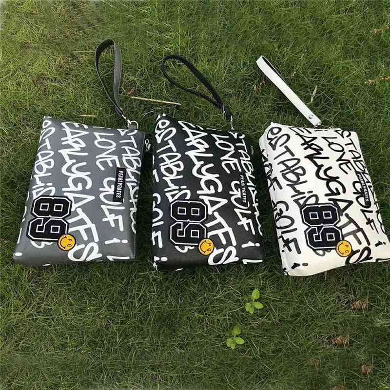 Portable Small Golf Ball Bag From Pu Leather