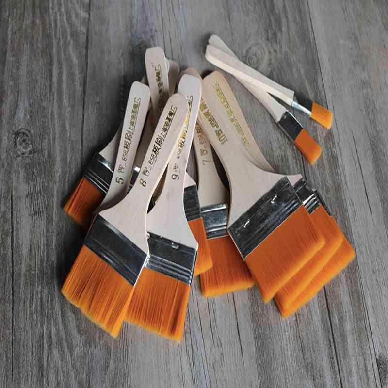 Nylon Hair Wooden Penholder, Oil Acrylic Painting &scrubbing Brushes