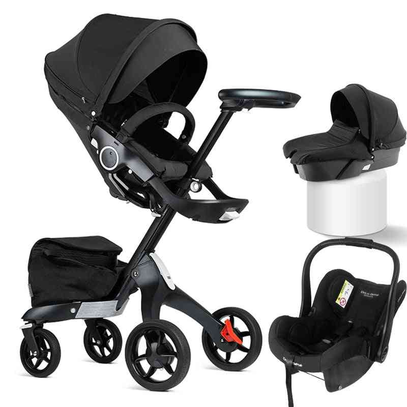 Baby Stroller 3 In 1 High Land Scape, Sitting Pram Buggy Bassinet For Newborn Carriage Car Walkers