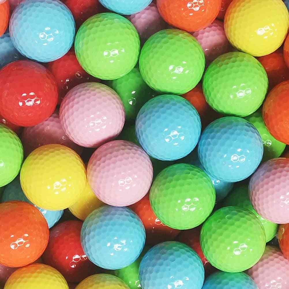 Colorful Golf Ball Practice For Golfer
