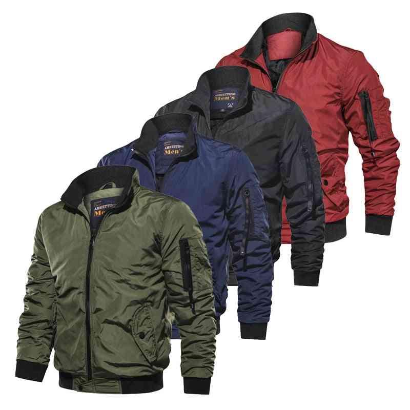 Cotton Military Windbreaker Bomber Jackets -men Clothes