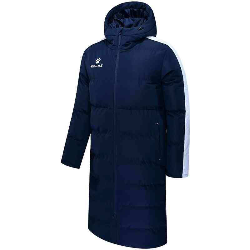 Winter Long Solid Hooded Jacket