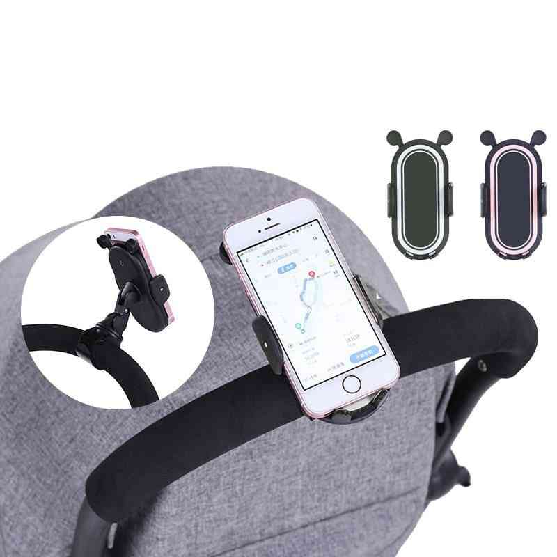 360-degree Rotate, Universal Adjustable Baby Straller Mount Bracket-mobile Phone Stand
