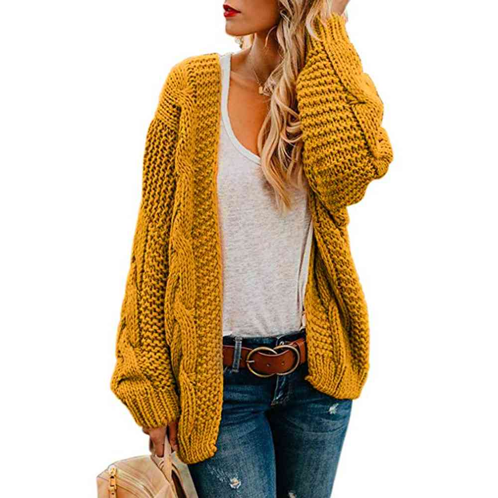 Open Front Cardigan Sweaters, Long Sleeve Casual Outerwear