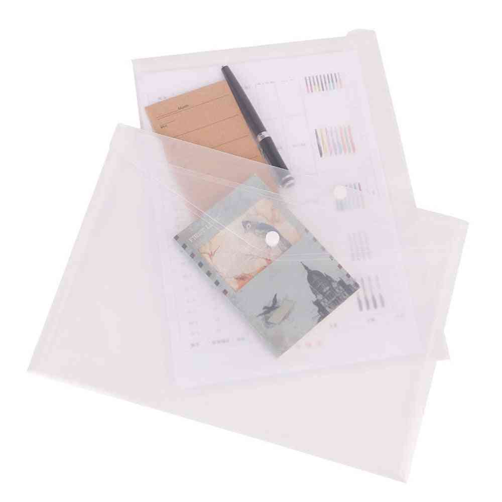 Envelope Shape Folder With Snap Button For A4 Size Documents