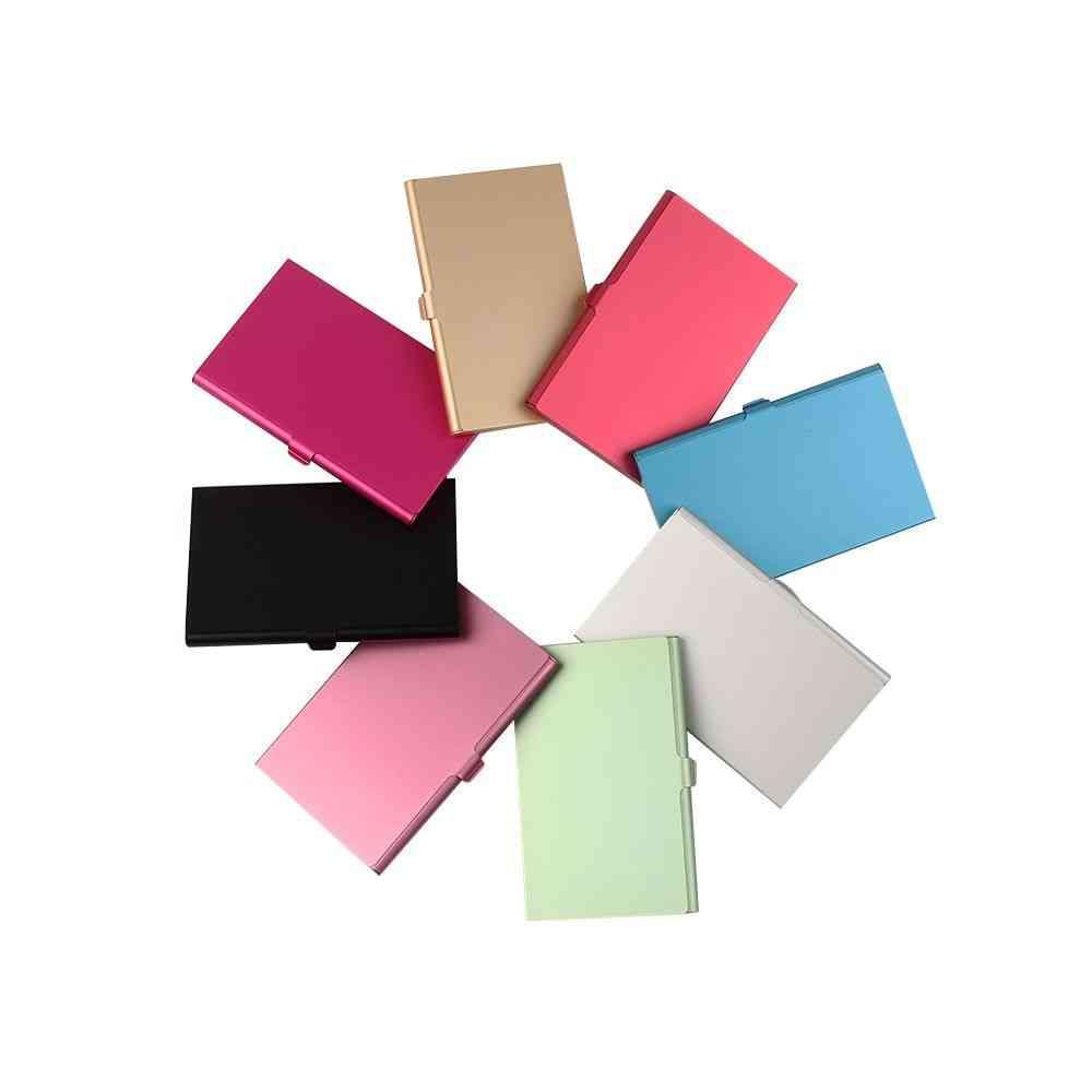 Creative Business Card Holder, Alloy Aluminum Metal Box