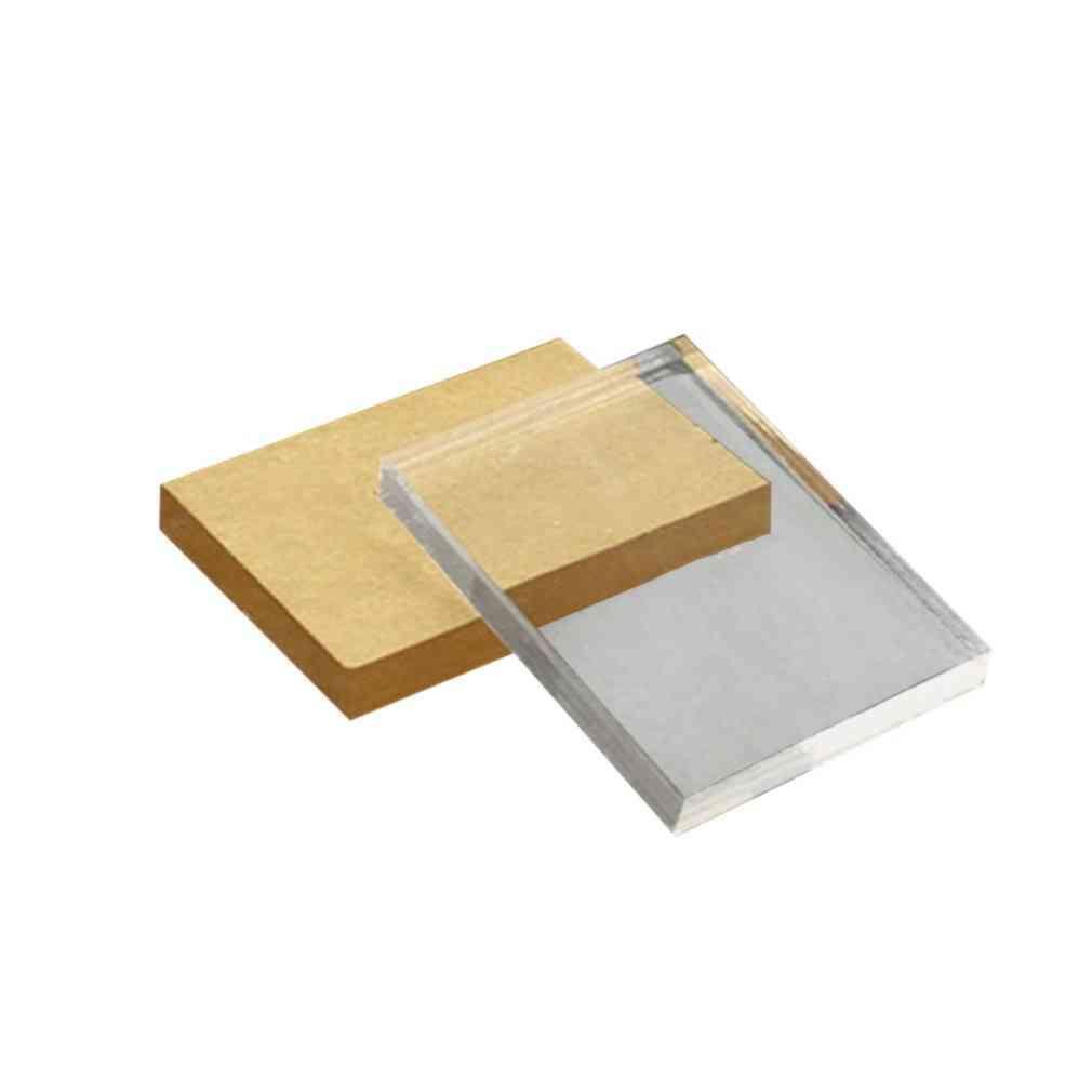 Lightweight, Acrylic And Rectangular Shape Stamp Block