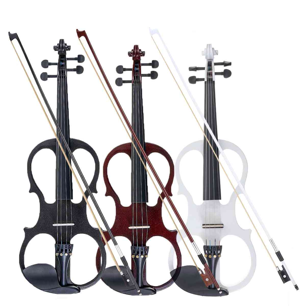 Electric Violin Basswood Fiddle With Case Cover Bow