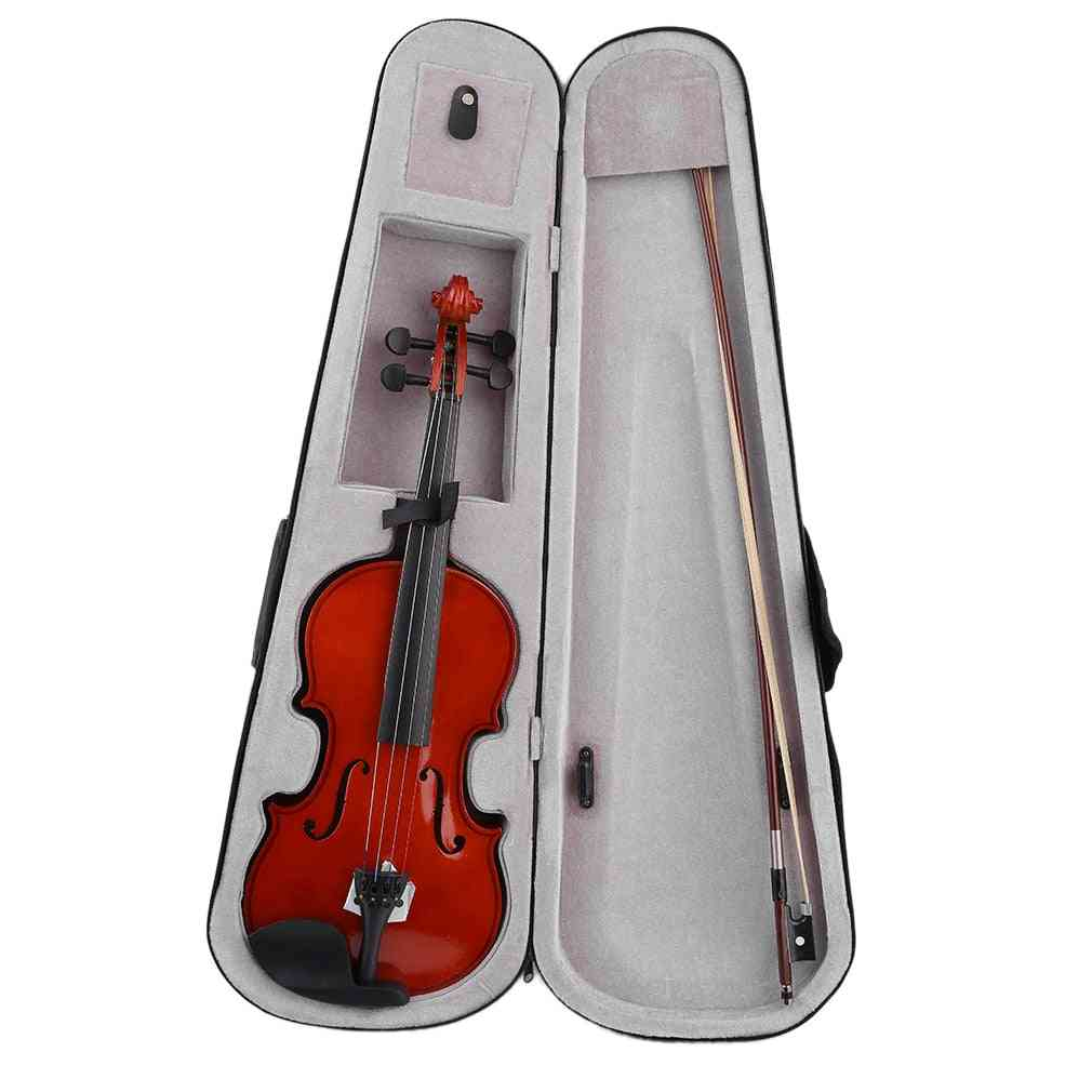 High Grade Full Size Acoustic Violin Fiddle With Case, Bow, Rosin