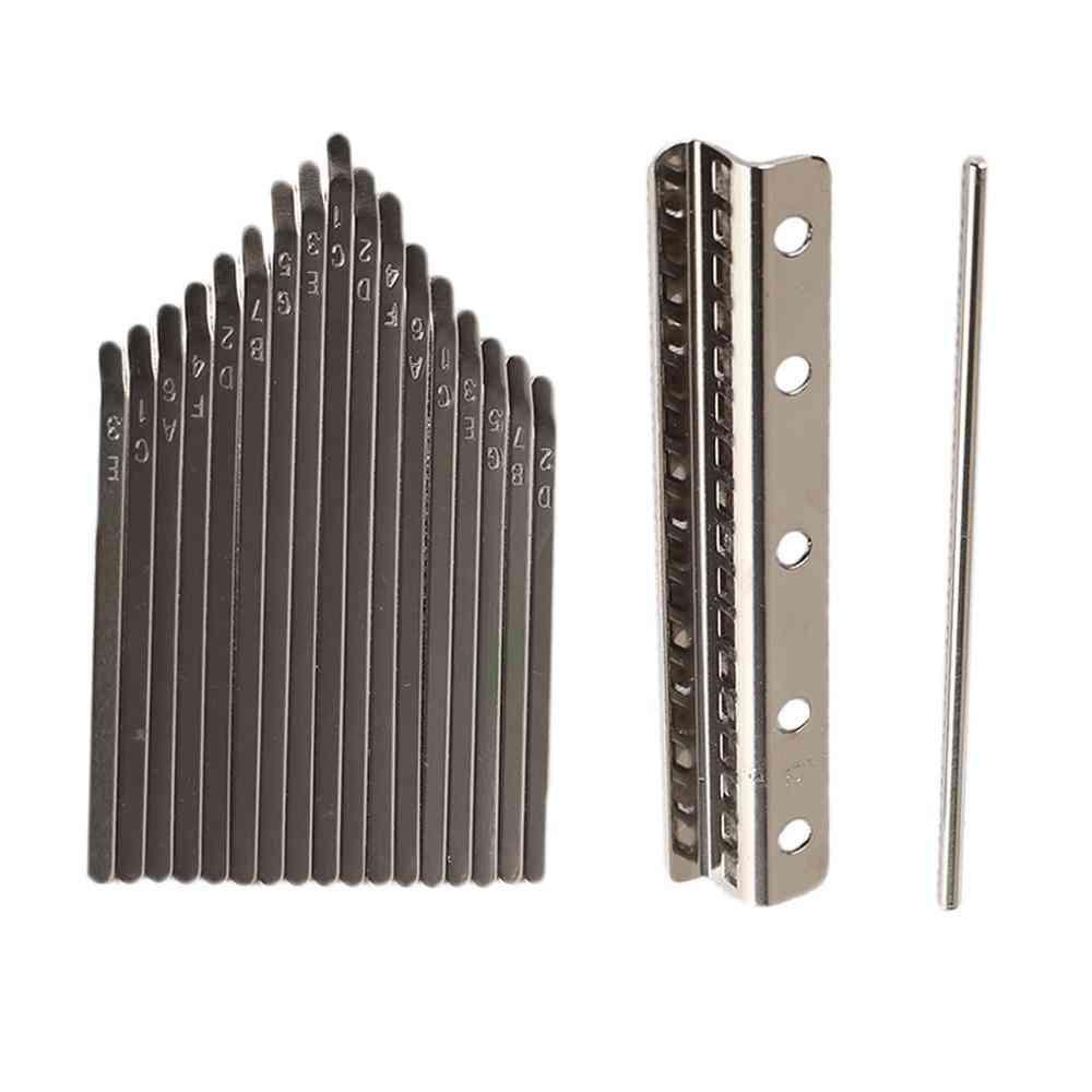 Thumb Piano Bridge Saddle Keys Set Kit Diy Replacement Parts