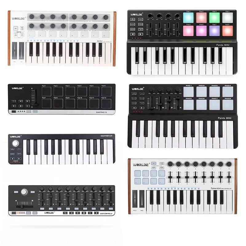 Portable Midi Keyboard Controller, Mini Usb Pads