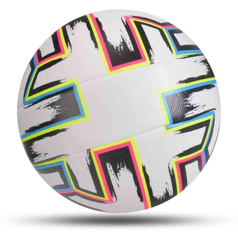 Soccer Ball Standard Size Machine-stitched Pu Material Sports League Match Training