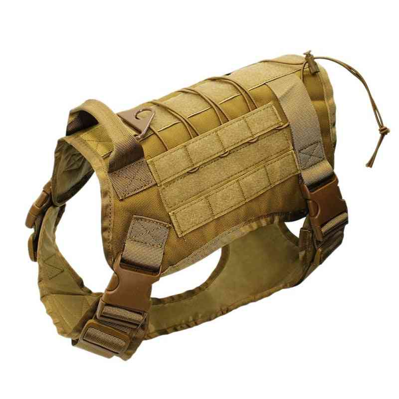 Adjustable Tactical Service Dog Vest- Training Hunting Molle Harness With Handle
