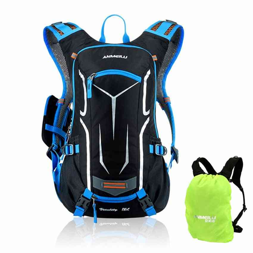 Rucksack Backpack With Rain Cover And Reflective Straps For Outdoor Sports