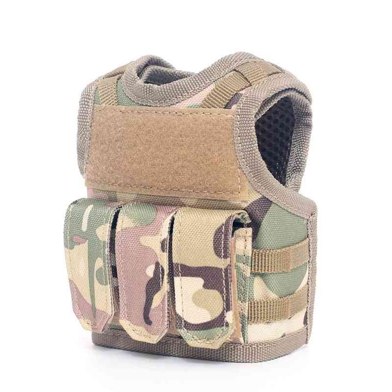 Military Mini Miniature Molle Vest, Personal Bottle Drink Set
