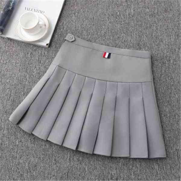 Girls Tennis Skirt- High Waist Uniform With Inner Shorts