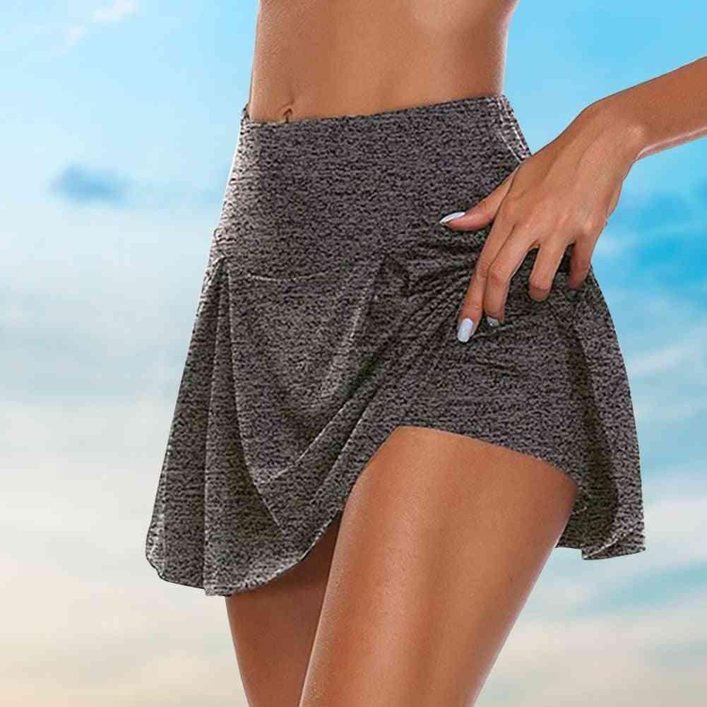 2 In 1 Tennis Skirt- Women Breathable Yoga Skirt