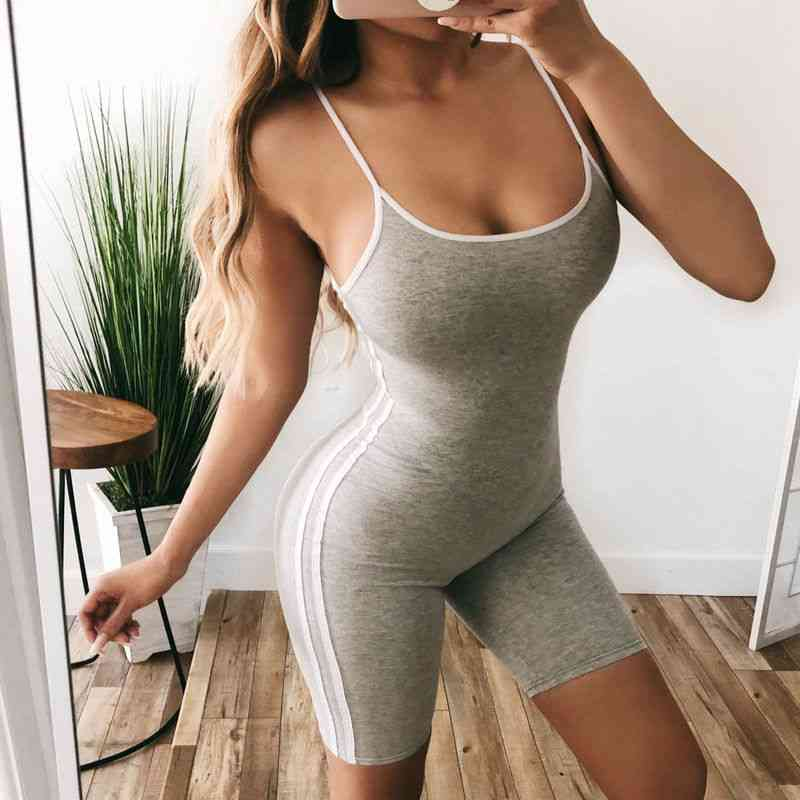Women 2pcs Yoga Set- Female Sleeveless Tank Top Bra, Fitness Shorts