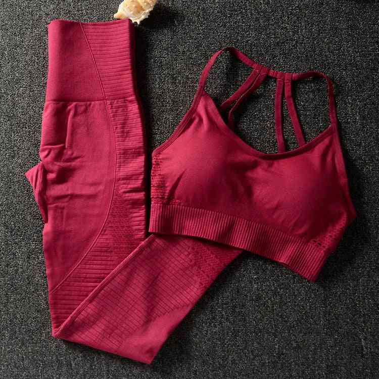 Gym 2 Piece Workout Clothes, Sports Bra And Leggings Set